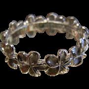 Fine Sterling Silver Ring w/ Plumeria Flowers - Size 8.5