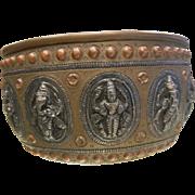 Vintage Indian Bronze Offering Bowl