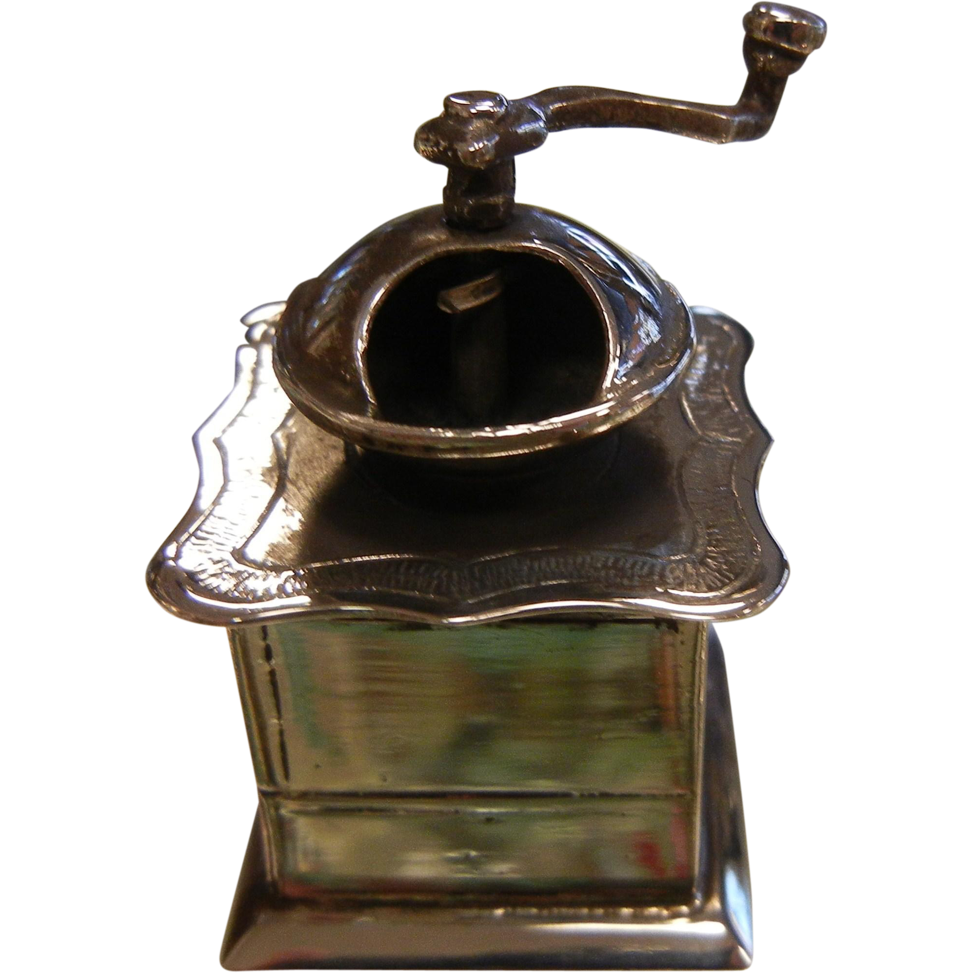 Adorable Sterling Silver Miniature Coffee Grinder