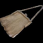Fine Antique Sterling Silver Mesh Hand Bag
