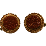 Vintage Goldstone Cuff Links