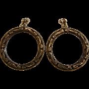 Vintage Sterling Silver Hoops w/ Clip Earrings