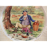Vintage Wedgwood England Plate - Mr. Pickwick