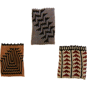 Collection of Native American Hand Crafted Miniature Beaded Bags