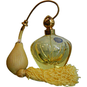Gorgeous Vintage Canary Yellow Glass Perfume Bottle - Made in West Germany