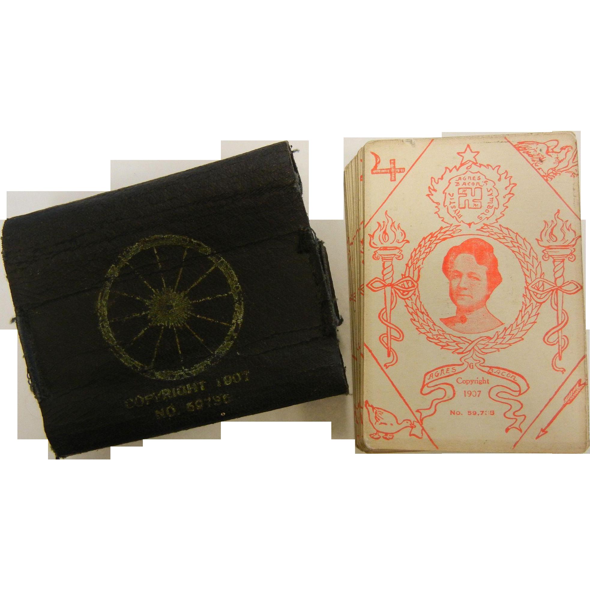 """Agnes Bacon's Mystic Symbols"" Copyright 1907 Tarrot Card Deck"