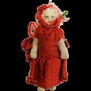 Vintage German 1910's Frozen Charlotte Porcelain Doll Figurine
