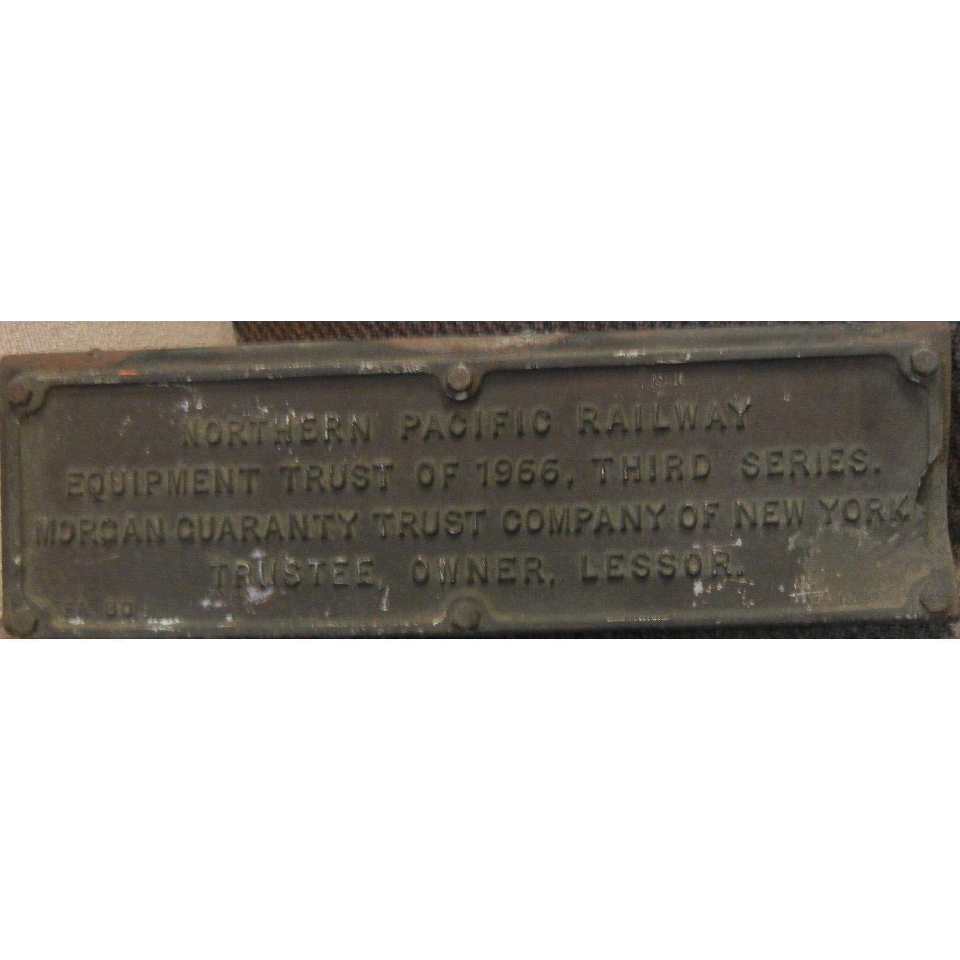 Vintage Original 1966 Northern Pacific Railway Third Series Equipment Trust