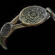 Vintage Ethnic  900 Silver Slide Bracelet