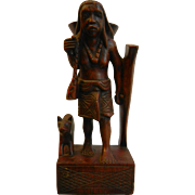 Unique Hand Carved Ethnic Wooden Statue