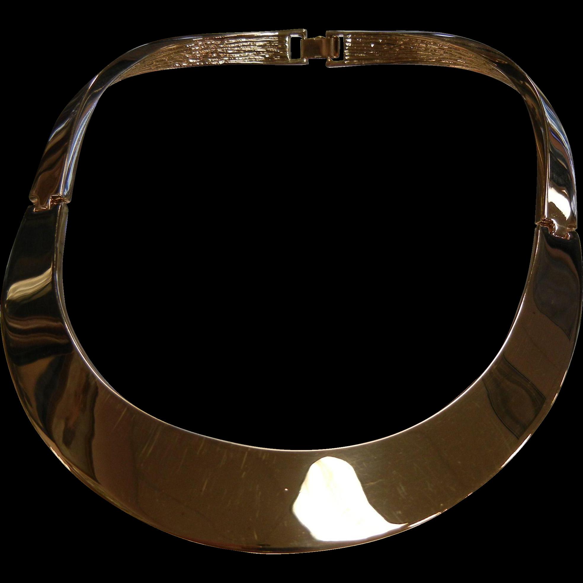 Awesome Vintage Saint John Signed Choker Necklace