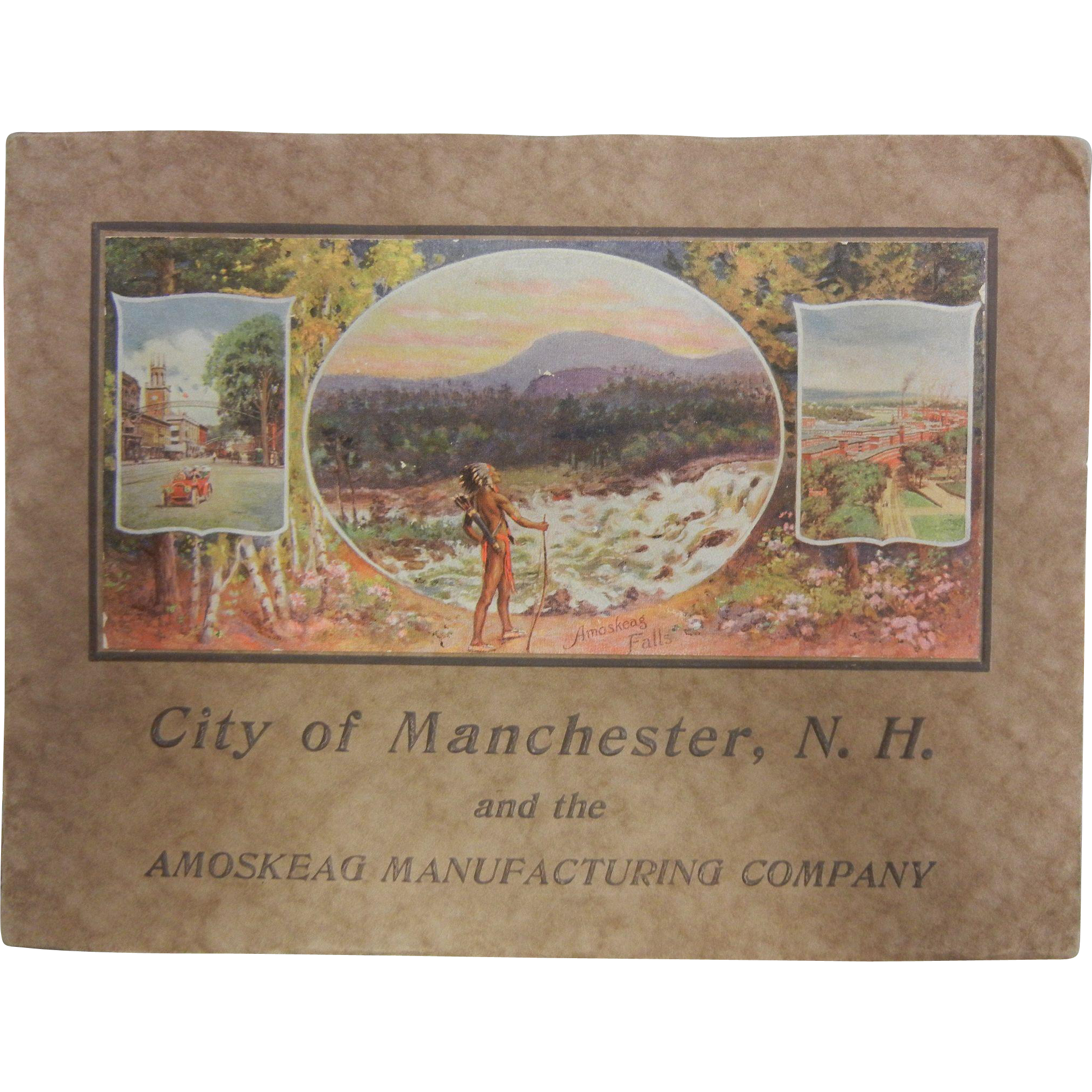 "Copyright 1912 Copy of ""City of Manchester, N.H. and the Amoskeag Manufacturing Company"""