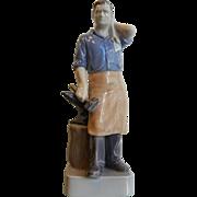 Vintage Royal Copenhagen Denmark Figurine - Blacksmith