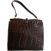 Vintage 50's Genuine Alligator Handbag