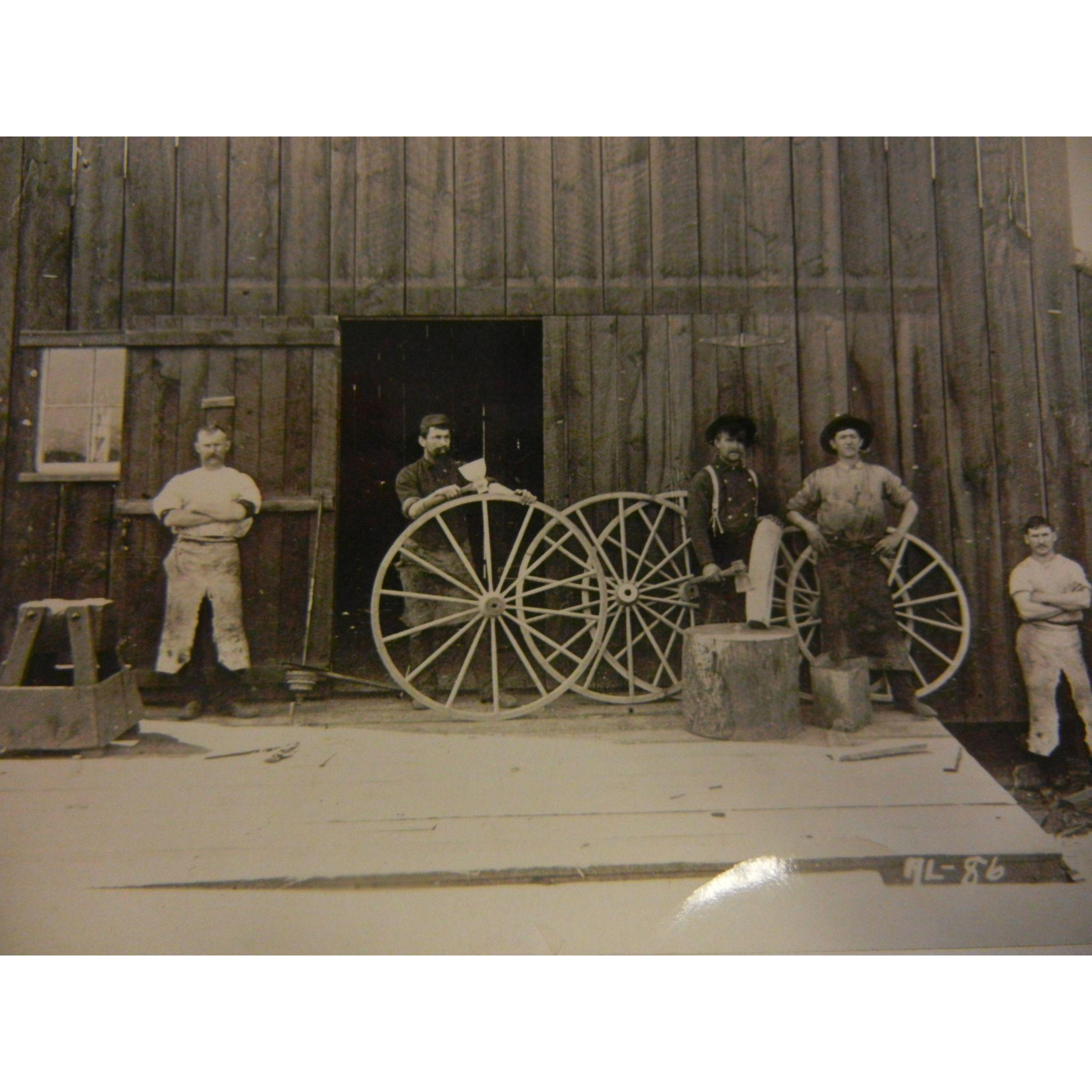 Vintage Original B&W Photograph - Blazers Wagon Shop