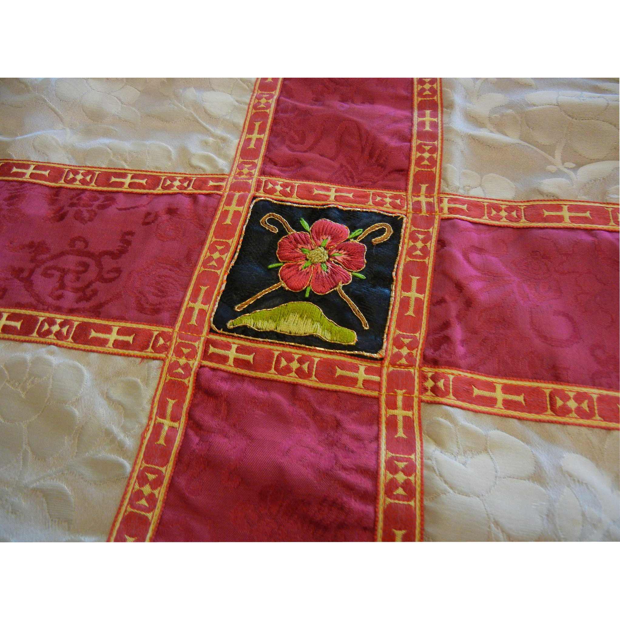 Vintage Hand Made Silk Priests  Altar Communion Cloth
