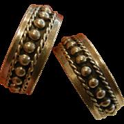 Fine Mexico TD-31 Sterling Silver Hoop Earrings