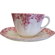 Shelley England Fine Bone China Teacup & Saucer Set - Dainty Pink 051/P