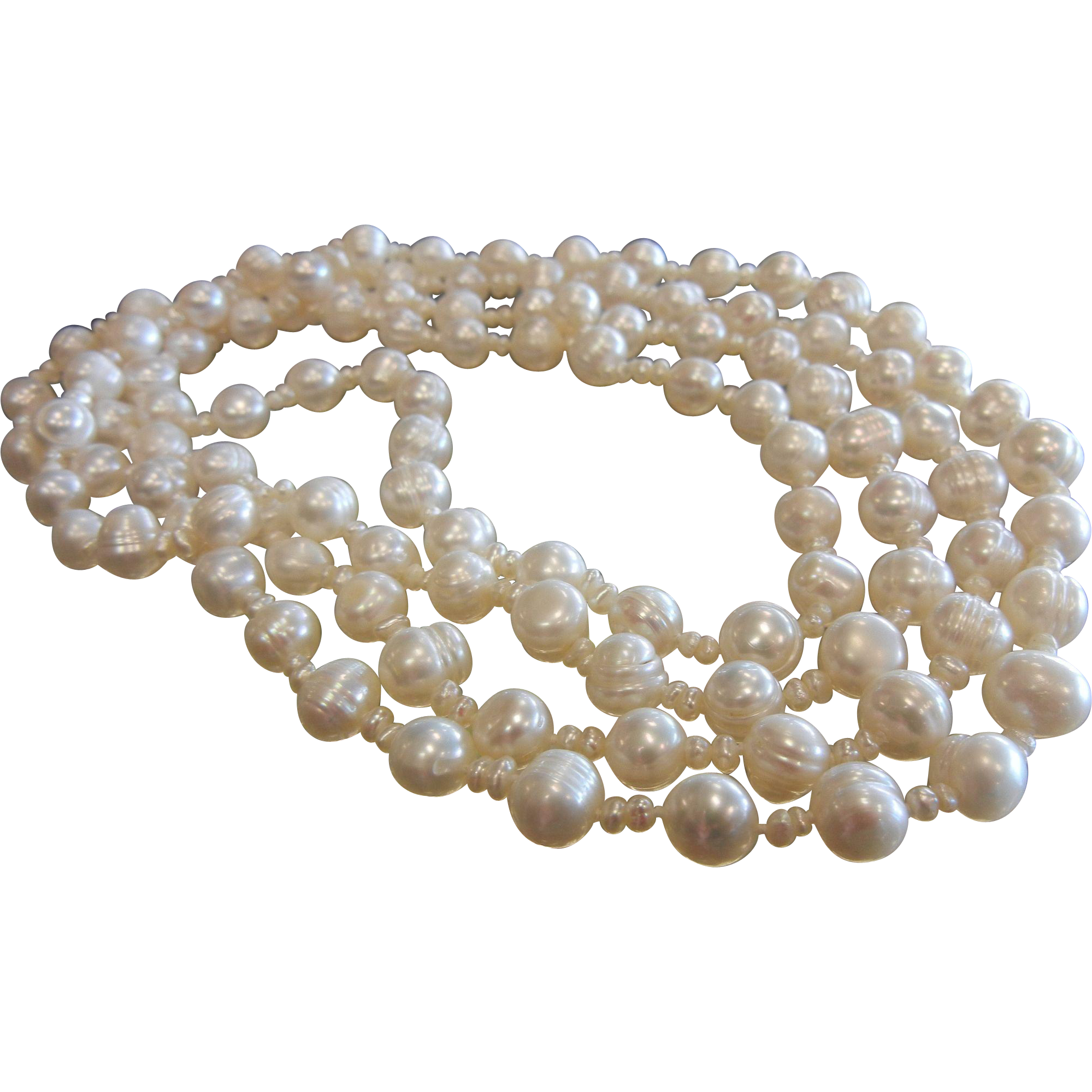 Ultra Long Strand of Cultured Pearls