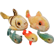Adorable Vintage Steiff Stuffed Fish Collection