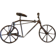 Vintage Sterling Silver Kinetic Bicycle Brooch