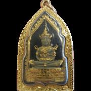 Vintage22ct Gold Amulet Shadow Box Deity Pendant