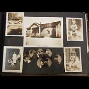 Old Photograph Album w/ Various Photos Dated 1902-1939 - 239 PHOTOS AS FOUND