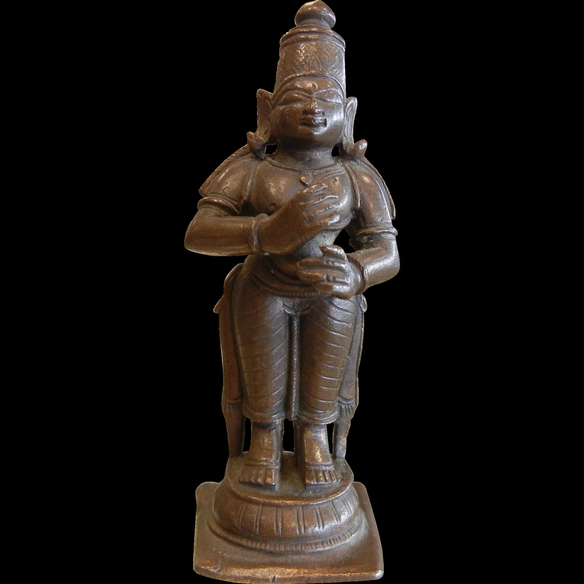 Bronze Hindu Deity Figurine Goddess Uma (Parvati)