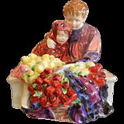 "Vintage Royal Doulton Bone China Figurine ""Flower Seller's Children"" - Red Tag Sale Item"