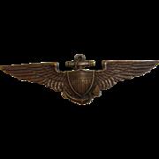 Vintage US Navy WW2 Balfour Naval Cap Pin