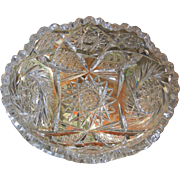 Vintage Brilliant Cut Glass  Crystal Dish