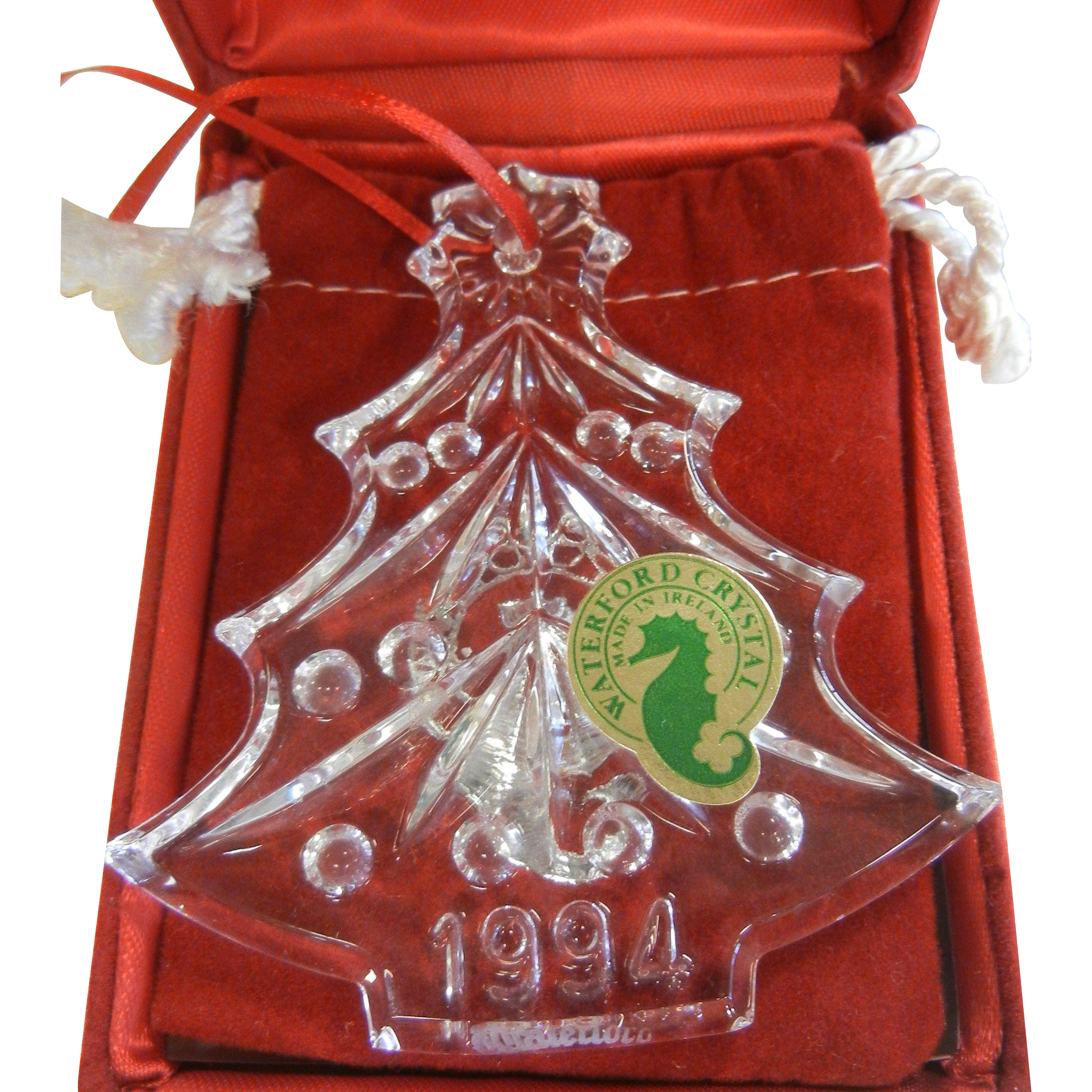 Vintage Waterford Crystal Christmas Tree Ornament 1994