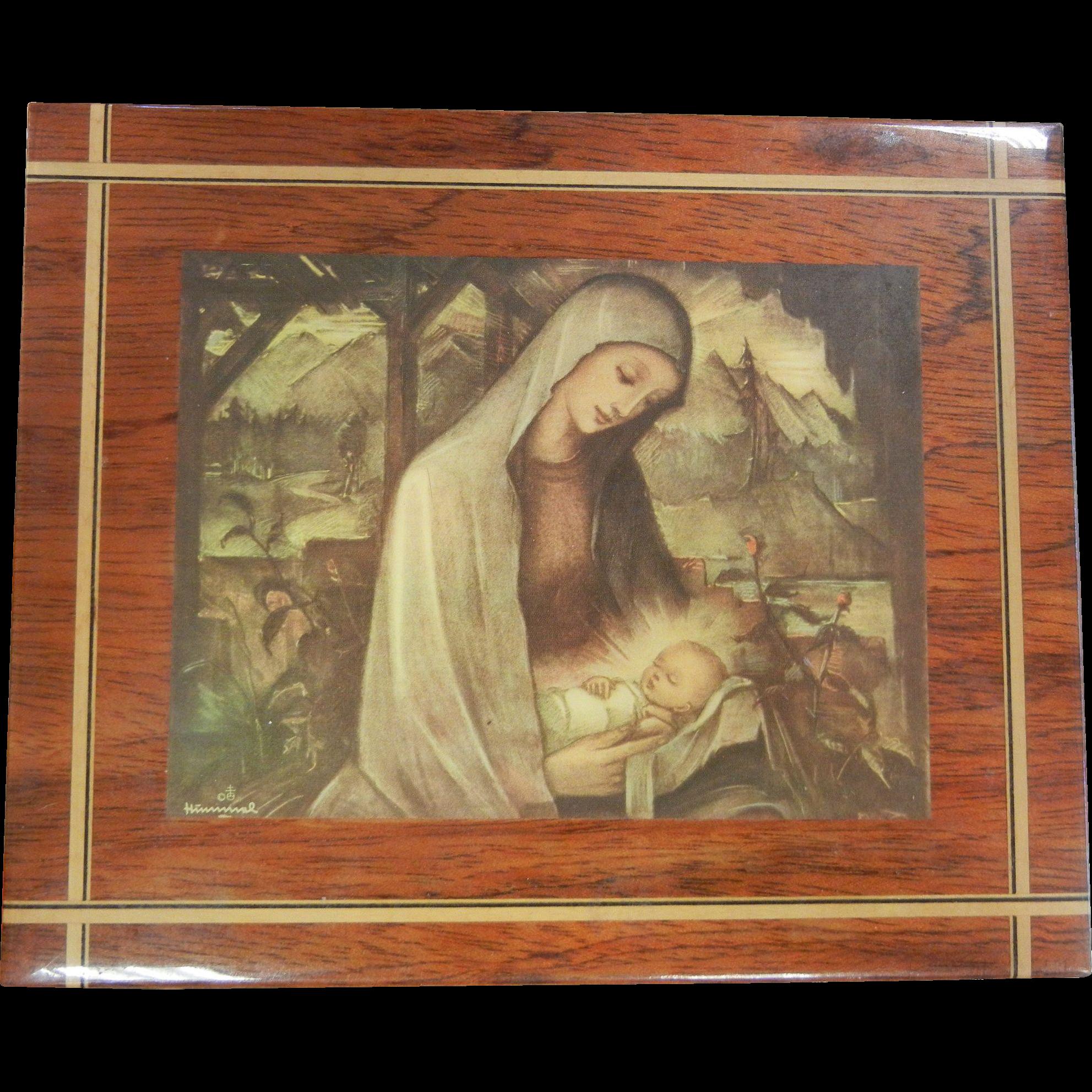 Beautiful Hummel Musical Jewelry Box - Ave Maria