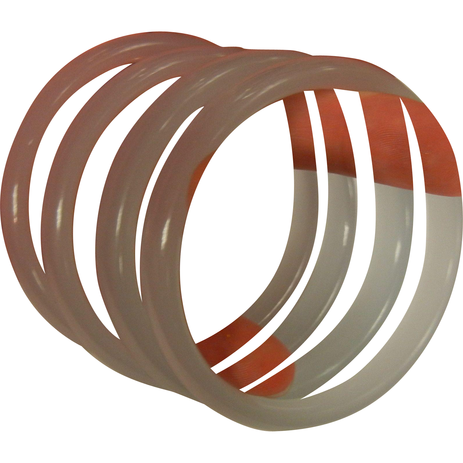 Four Color-Change Lavender Glass Bangle Bracelets