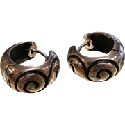 ZINA Sterling Silver Hinged Hoop Earrings