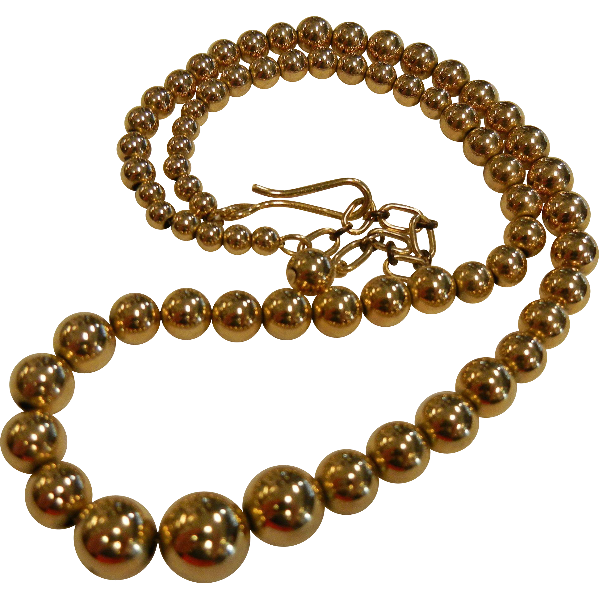 Vintage SIMMONS 12K Gold Filled Graduated Bead Necklace