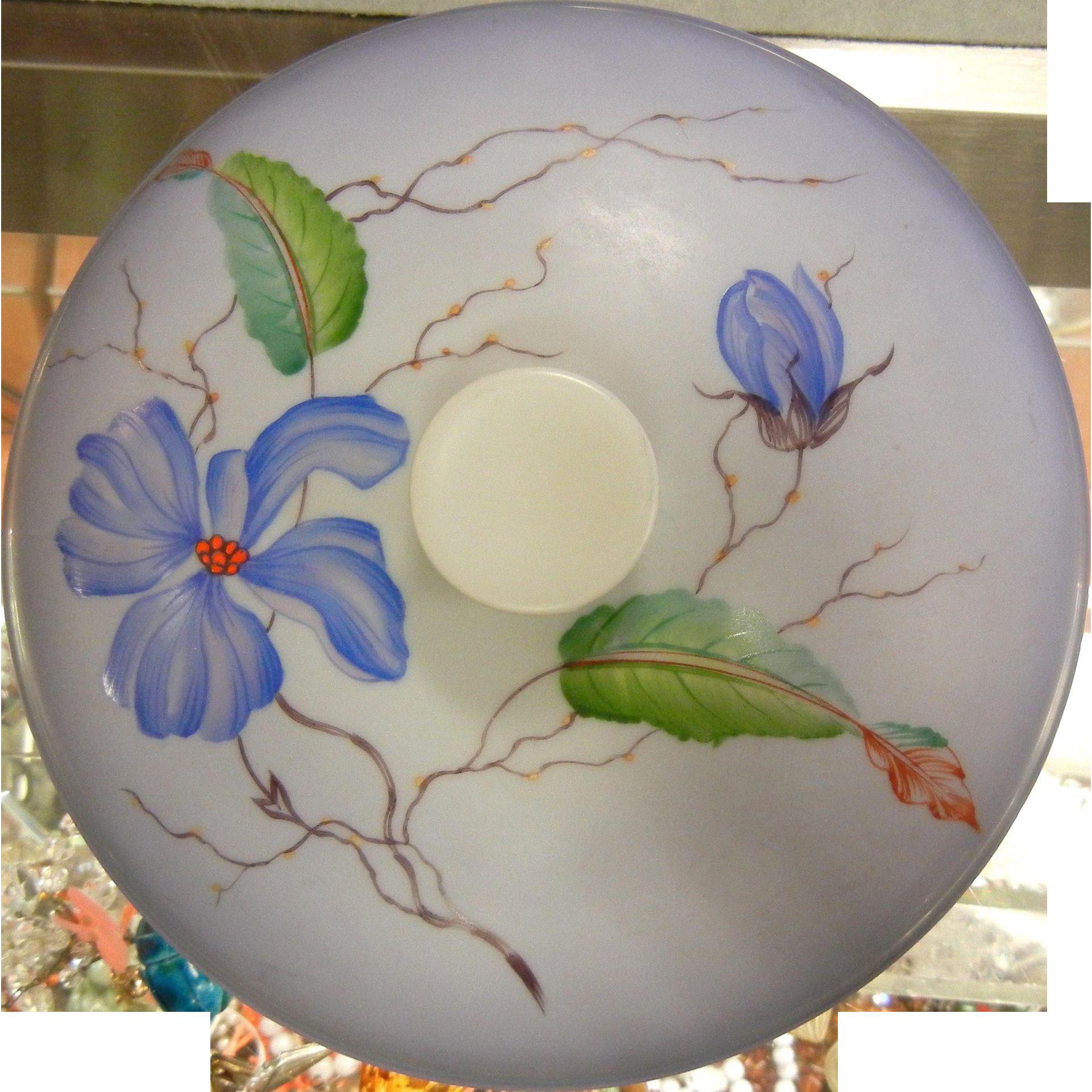 Vintage Rosenthal German Bowl w/ Lid - Hand Painted Flowers Artist Signed