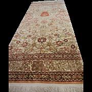 Vintage Fine Hand Woven Turkish Silk Prayer Rug