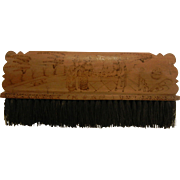 Vintage Asian Carved Wooden Brush