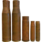Vintage Military Brass Shell Casings