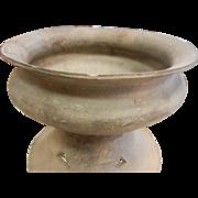 Antique Hand Made Korean Black Grey Pottery Vessel