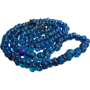 Old Vibrant Cobalt Blue Glass Trade Beads