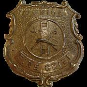 Vintage Tootsie Toy Badge 'Junior Fire Chief'
