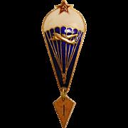 Vintage Soviet Union Parachutist Badge