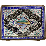 Vintage Persian Enameled Cigarette Or Card Case