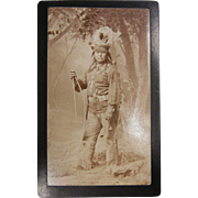 Vintage Original B&W Native American Chief Photograph
