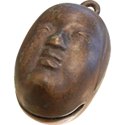 Vintage Asian Face Bronze Bell