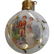 Vintage Painted Porcelain Perfume Bottle