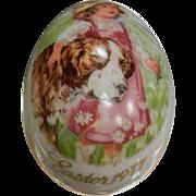Vintage Royal Bayreuth Germany Easter 1977 Painted Porcelain Egg