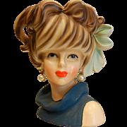 Vintage RELPO Japan Lady Head Vase